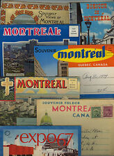 MONTREAL * lot of seven souvenir folders c. 1925-1980 * Quebec, Canada * Expo 67