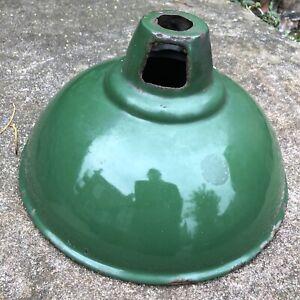 Vintage green enamel industrial pendant ceiling Light Lamp Shade Retro Salvage