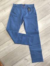 bnwt gents Gant chino pants size 30 waist 32 inside leg in blue