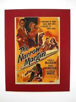 alter Kino Film Druck hinter Passepartouts Um Haaresbreite 1952 USA 50x40 cm 460