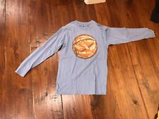 Wes & Willy Blue Long Sleeve Basketball T-Shirt in Boys Size M