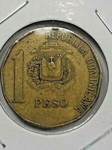 1991 Dominican Republic 1 Peso Coin #593