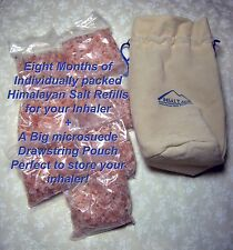 Traveling Pouch + 8 months Refills / 1lb Himalayan Salt for Inhaler Asthma COPD