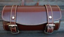 Front Leather Top Case Tool Roll Handlebar Bag Vespa Sprint Primavera 946, BROWN