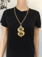 Gold Dollar Sign Necklace Gangster Pimp Hip Hop Fashion Pendant Chain