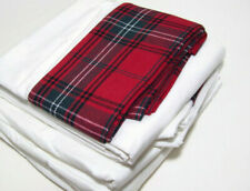 Williams Sonoma Home Tartan Plaid Cuff California King Sheet Set New