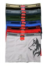 6 Mens Microfiber Boxer Briefs #MS58 Underwear Compression Knocker One Size