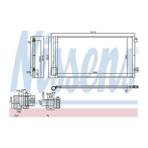 Genuine Nissens A/C Air Con Condenser - 940678