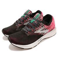 Brooks Ricochet Pink Black Aqua Women Running Training Shoes Sneakers 120282 1B