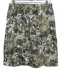 Jules & Leopold - Women's 4 (s) - Army Green Animal Print Pull-On Mini Skirt
