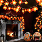 Halloween Fall Garland Maple Leaf LED String Light Home Party Hanging Decor US