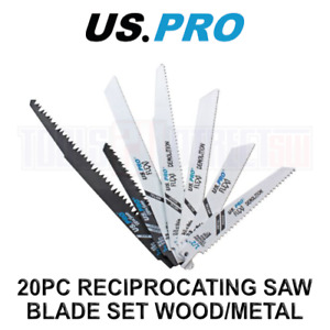US PRO Tools 20PC Assorted Reciprocating Recip Saw Blades For Wood & Metal 9171