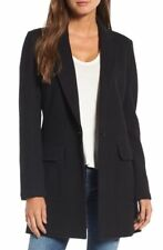 NEW Standard James Perse Cotton Knit Jacket - Black Size 1 US XS