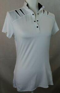 Tail White Label Polo Shirt Womens XS white black *defect