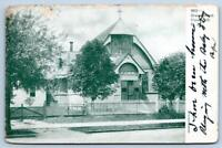 1907 UNION HILL NEW JERSEY*NJ*GRACE CHURCH*TO WEEHAWKIN*ANTIQUE POSTCARD