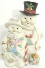 Lenox Christmas Winter Snowman Snow Woman Couple Presents Candy Cane porcelain