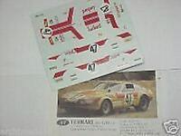 FERRARI 365 GTB4 DAYTONA N.47 LE MANS 1975 1/43 DECALS