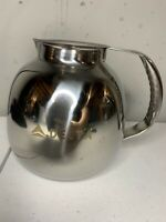 "Rare Delta Airlines Engraved Coffee/Tea Pot Stainless Steel 6"" First Class"