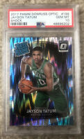 Jayson Tatum 2017 Donruss Optic Shock ROOKIE RC #198 PSA 10 GEM MINT