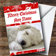 Bichon Frise Dog Personalised Christmas Greetings Card