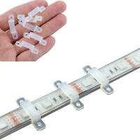 50pcs Plastic Fixing Clip Holders Waterproof For LED Light Strip Clips N2L8 G7Y9