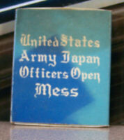 Vintage Matchbook K6 Mid Century Air Force Japan US Army Officer's Mess Box