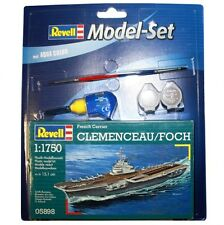 REVELL 1:1750 KIT NAVE PORTAEREI FRENCH CARRIER CLEMENCEAU FOCH  ART 65898
