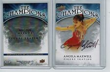 2009-10 UPPER DECK HOCKEY ANGELA MAXWELL WC8 AUTO FIGURE SKATING CERTIFIED BY UD
