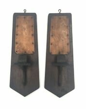 2 Antique Arts & Crafts Mission Style Candle Wall Sconces Free Shipping