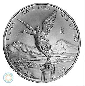 2015 1 oz Mexican Silver Libertad BU (901,500 Mintage)