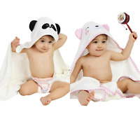 Baby Hooded Towel 100% Bamboo Towel with Wash Cloth Set for Infant/Toddler/10yo
