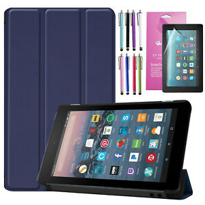 Auto Wake/Sleep Leather Cover Stand Case For Amazon Fire 7 (2019) 7 inch Tablet