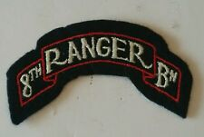 Patch title US 8th RANGER Bataillon WWII - REPRO fabrication ancienne