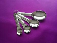 Set Of 4 Measuring Spoons 1/4 Teaspoon 1/2 Teaspoon 1 Teaspoon 1 Table spoon