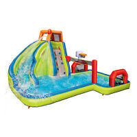 Banzai Aqua Sports Kids Inflatable Outdoor Backyard Water Slide Splash Park