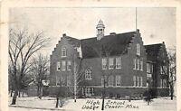 D73/ Dodge Center Minnesota Mn Postcard 1910 High School Building