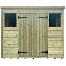 Premium Pressure Treated Pent Shed/ Heavy Duty Outdoor Storage Shed 8ft x 6ft