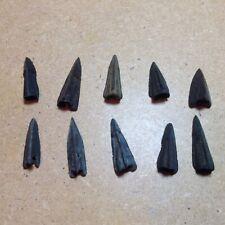 10 Roman tri-edged bronze arrow heads