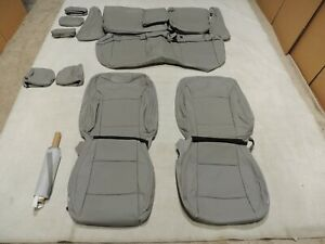 Leather Seat Covers Interior Fits Subaru Legacy 2.5i Premium 2015-2019 Grey D6