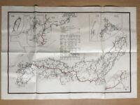 JAPAN FORMER TERRITORY TRANSPORTATION MAP TAIWAN KOREA MANCHURIA RAILROAD CHINA