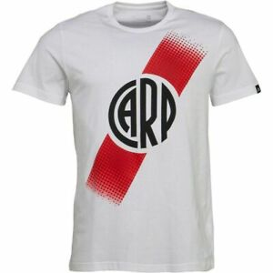 adidas Men football T-Shirt  CARP River Plate Crest futbol White Jersey Top
