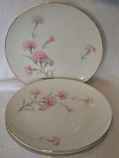 Royal Court Fine China Carnation Dinner Plates Set of 4