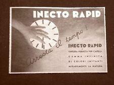 Pubblicità del 1935 Inecto rapid Tintura per capelli