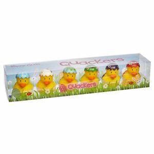6 Pack Novelty Easter Egg Rubber Duck Bath Toys Fun Kids Infant Set