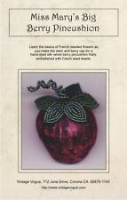 Miss Mary's Big Berry Pincushion - Pattern by Janet Stauffacher - Beaded Stem