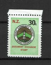 New Zealand Revenue Document exchange Stamp Coast Community Society Courier