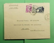 DR WHO 1945 FRANCE PARIS AIRMAIL TO PALESTINE  f54012