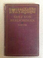 Vintage Gotz Von Berlichingen, Goethe, (Hardcover, 1910)