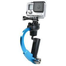Fit For GoPro Hero HD 2 3 3+ 4 Camera 2-in-1 Stabilizer Video Handheld Grip Blue