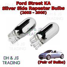 Ford Street KA Chrome / Silver Indicator Bulbs Flash 501 Side Tail Pair (03-05)
